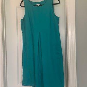 J Jill turquoise linen dress. Excellent condition!